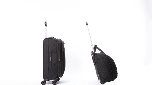 Delsey Quilted Expandable Spinner Exclusive Luggage - image 9 from the video