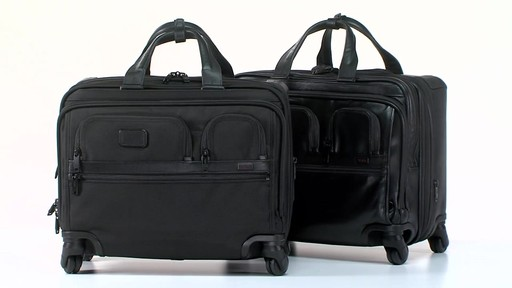 Tumi Alpha 2 4 Wheeled Deluxe Brief with Laptop Case - Shop eBags.com - image 10 from the video