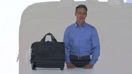 Tumi Alpha 2 4 Wheeled Deluxe Brief with Laptop Case - Shop eBags.com - image 2 from the video