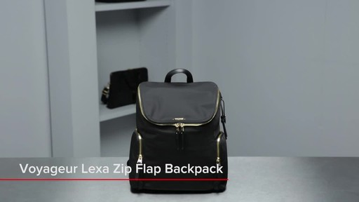 Tumi Voyageur Lexa Zip Flap Backpack - image 1 from the video