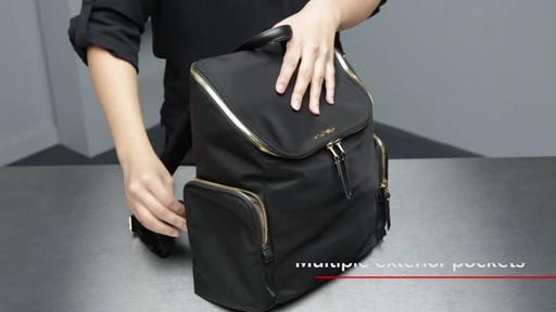Tumi Voyageur Lexa Zip Flap Backpack - image 4 from the video