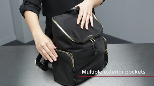 Tumi Voyageur Lexa Zip Flap Backpack - image 5 from the video