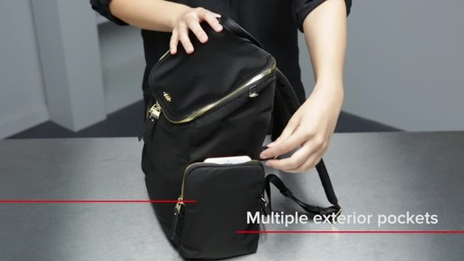 Tumi Voyageur Lexa Zip Flap Backpack - image 6 from the video