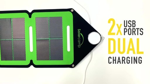 Solar Camp Technologies Inc Solympic-Hue 7.6W Four-Fold Solar Charger - image 8 from the video
