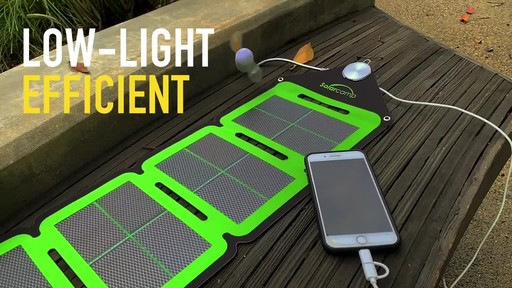 Solar Camp Technologies Inc Solympic-Hue 7.6W Four-Fold Solar Charger - image 9 from the video