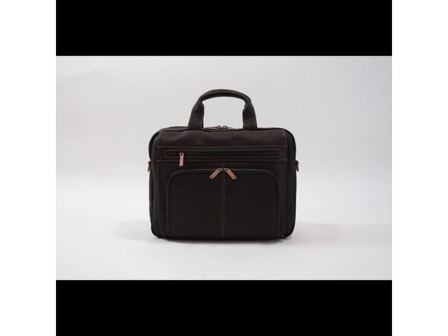Kenneth Cole Reaction Out Of The Bag - Colombian Leather Expandable Computer Case - image 3 from the video
