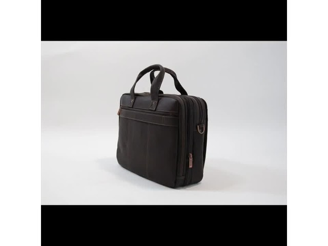 Kenneth Cole Reaction Out Of The Bag - Colombian Leather Expandable Computer Case - image 8 from the video