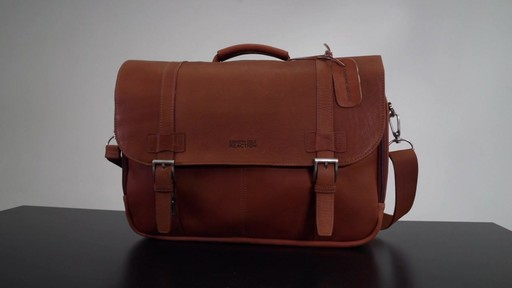 Kenneth Cole Reaction Show Business - Colombian Leather Flapover Computer Case - on eBags.com - image 1 from the video