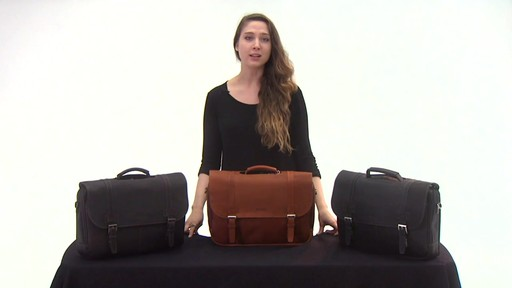 Kenneth Cole Reaction Show Business - Colombian Leather Flapover Computer Case - on eBags.com - image 2 from the video