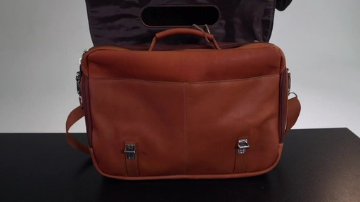 Kenneth Cole Reaction Show Business - Colombian Leather Flapover Computer Case - on eBags.com - image 4 from the video