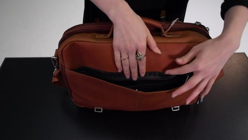 Kenneth Cole Reaction Show Business - Colombian Leather Flapover Computer Case - on eBags.com - image 5 from the video