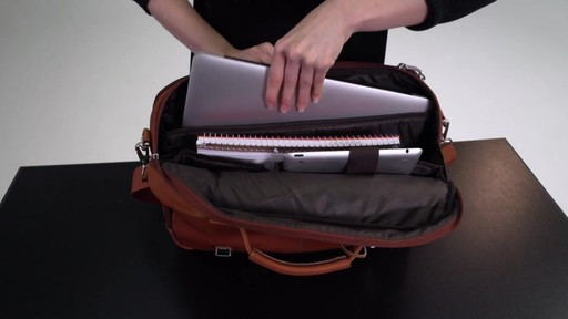Kenneth Cole Reaction Show Business - Colombian Leather Flapover Computer Case - on eBags.com - image 6 from the video