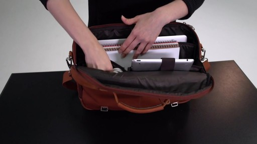 Kenneth Cole Reaction Show Business - Colombian Leather Flapover Computer Case - on eBags.com - image 7 from the video