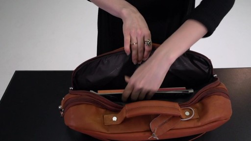 Kenneth Cole Reaction Show Business - Colombian Leather Flapover Computer Case - on eBags.com - image 8 from the video