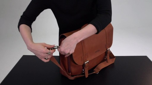 Kenneth Cole Reaction Show Business - Colombian Leather Flapover Computer Case - on eBags.com - image 9 from the video