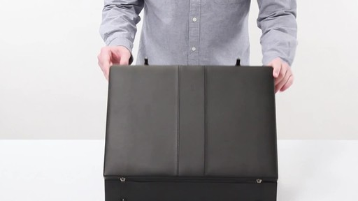 SOLO Premium Leather-like Attaché, Hard-sided with Combination Locks - image 2 from the video