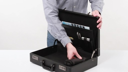 SOLO Premium Leather-like Attaché, Hard-sided with Combination Locks - image 7 from the video