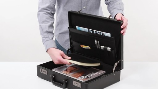 SOLO Premium Leather-like Attaché, Hard-sided with Combination Locks - image 8 from the video