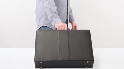 SOLO Premium Leather-like Attaché, Hard-sided with Combination Locks - image 9 from the video