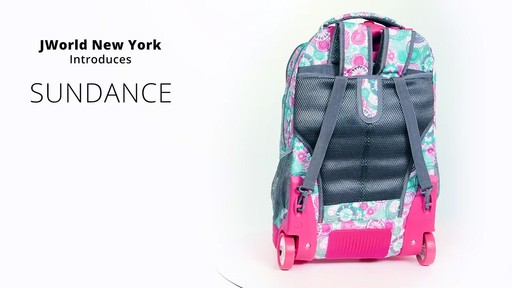 J World New York Sundance Laptop Rolling Backpack - on eBags.com - image 3 from the video