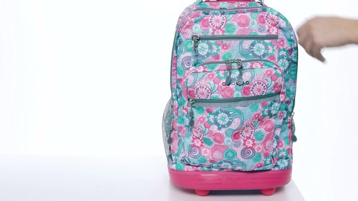 J World New York Sundance Laptop Rolling Backpack - on eBags.com - image 7 from the video