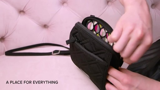 Vera Bradley Iconic RFID Mini Hipster - image 2 from the video
