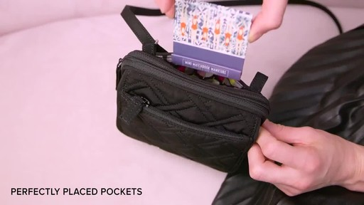 Vera Bradley Iconic RFID Mini Hipster - image 4 from the video