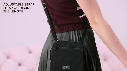 Vera Bradley Iconic RFID Mini Hipster - image 6 from the video