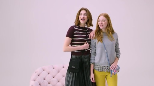 Vera Bradley Iconic RFID Mini Hipster - image 7 from the video