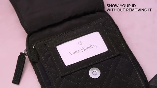 Vera Bradley Iconic RFID Mini Hipster - image 9 from the video