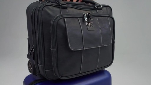 Kenneth Cole Reaction It's Wheel-y Late Rolling Laptop Case Bag - on eBags.com - image 10 from the video