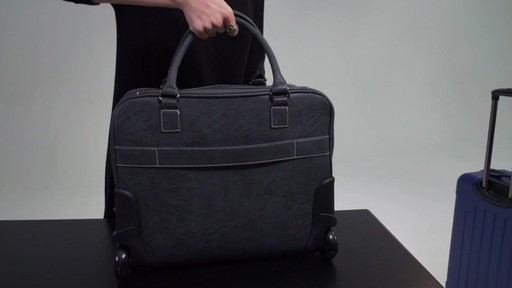 Kenneth Cole Reaction It's Wheel-y Late Rolling Laptop Case Bag - on eBags.com - image 9 from the video