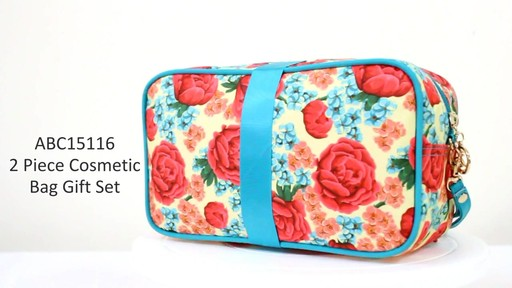 Jacki Design Miss Cherie Cosmetic Bags - eBags.com - image 4 from the video