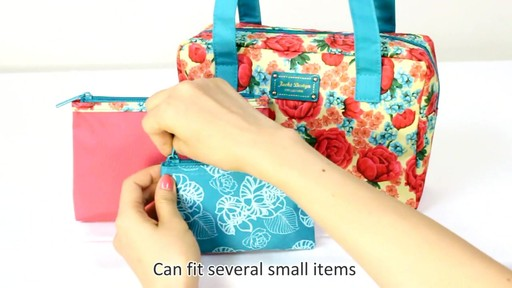 Jacki Design Miss Cherie Cosmetic Bags - eBags.com - image 8 from the video