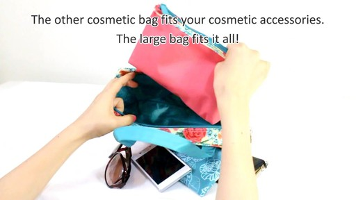 Jacki Design Miss Cherie Cosmetic Bags - eBags.com - image 9 from the video