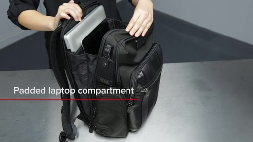 Tumi Alpha Bravo Nellis Laptop Backpack - image 8 from the video