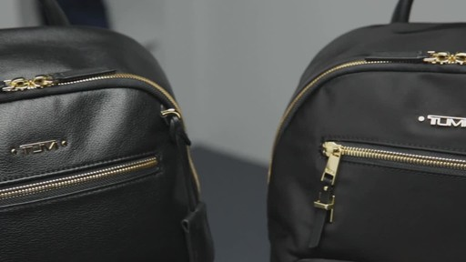Tumi Voyageur Hagen Leather Backpack - image 10 from the video