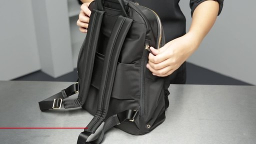 Tumi Voyageur Hagen Leather Backpack - image 5 from the video