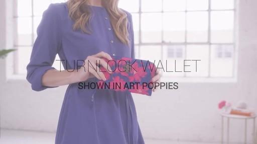 Vera Bradley RFID Turnlock Wallet - image 1 from the video