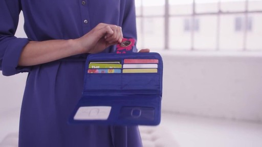 Vera Bradley RFID Turnlock Wallet - image 2 from the video
