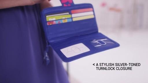 Vera Bradley RFID Turnlock Wallet - image 3 from the video