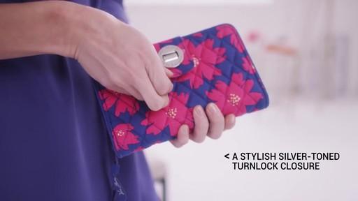 Vera Bradley RFID Turnlock Wallet - image 4 from the video