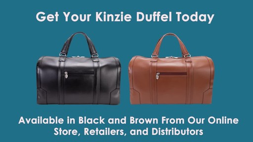 McKlein USA Kinzie Carry-All Leather Travel Duffel - image 10 from the video