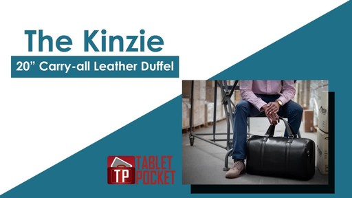 McKlein USA Kinzie Carry-All Leather Travel Duffel - image 2 from the video