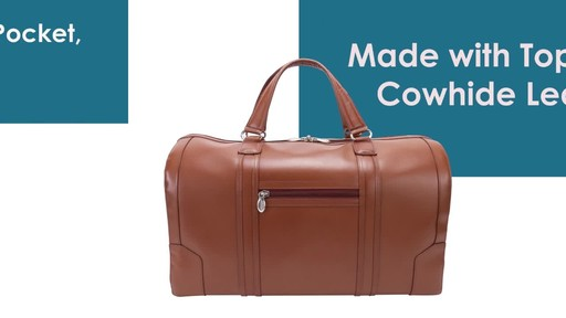 McKlein USA Kinzie Carry-All Leather Travel Duffel - image 4 from the video