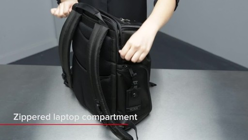 Tumi Alpha Bravo Willow Laptop Backpack - image 7 from the video