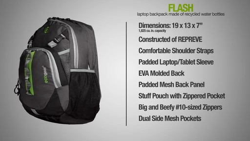 ecogear Flash Backpack - image 10 from the video