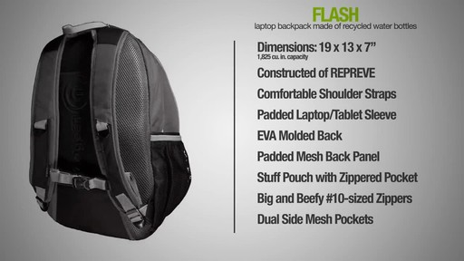 ecogear Flash Backpack - image 9 from the video