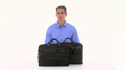 Tumi Alpha 2 Compact Large Screen Laptop Brief - Shop eBags.com - image 10 from the video