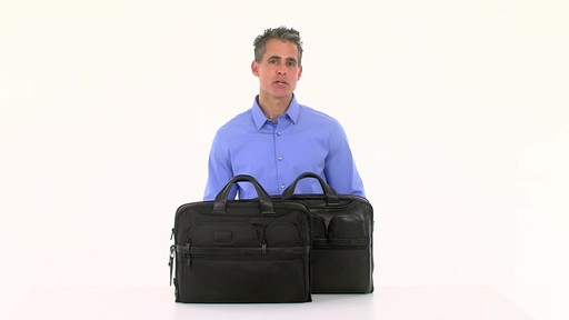 Tumi Alpha 2 Compact Large Screen Laptop Brief - Shop eBags.com - image 8 from the video